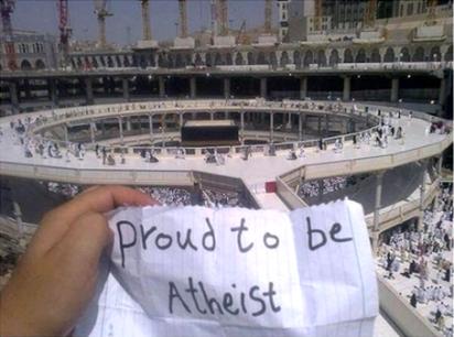 Fier d'être athée proud to be atheist