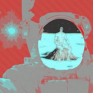 Astronaute meet alien