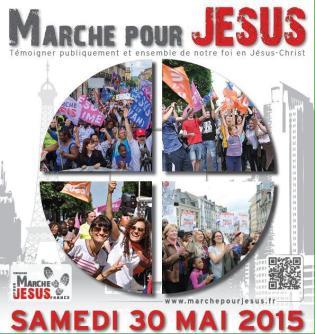 L'affiche de la Marche pour Jésus 2015