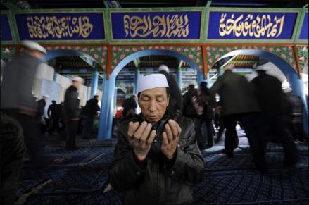 Un pratiquant musulman ouïghour