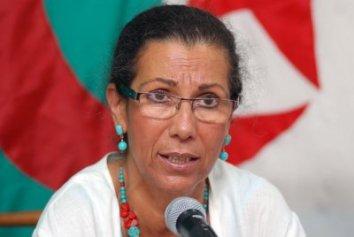 Louisa Hanoun, la secrétaire générale du Parti des Travailleurs