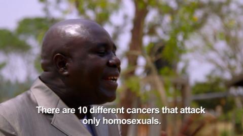Le député David Bahati, dans un extrait du documentaire.