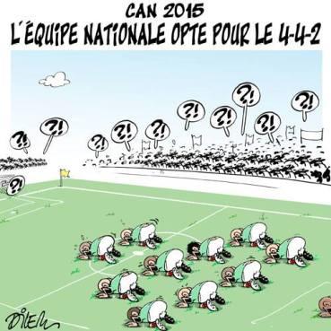 Un dessin du dessinateur algérien Dilem au sujet de l'équipe d'Algérie