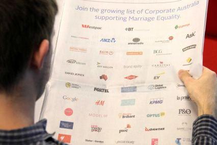 La lettre ouverte signée par les entreprises soutenant le mariage gay en Australie