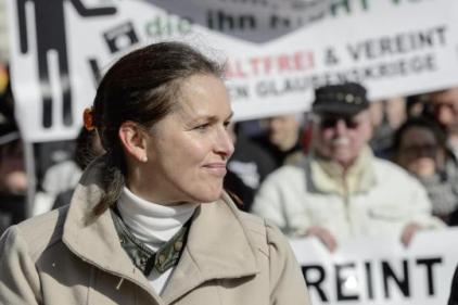 Tatjana Festerling, la candidate de Pegida à l'élection municipale de Dresde