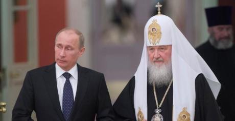 Vladimir Poutine et Cyrille Ier, patriarche de Moscou