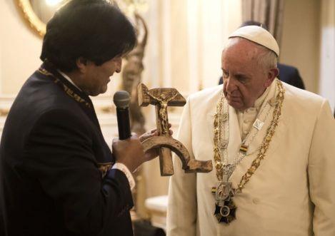 Evo Morales Pape François