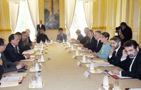 Les représentants du CRCF avec François Hollande