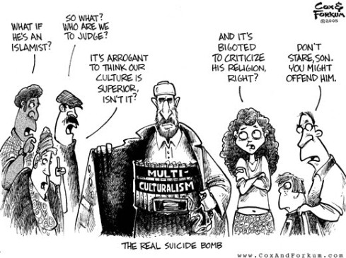 multiculturalisme caricature