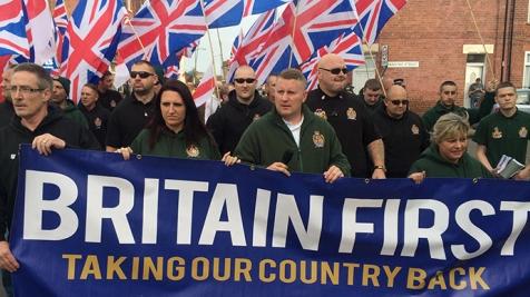 Le mouvement d'extrême-droit Britain First