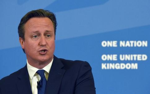 David Cameron durant son discours