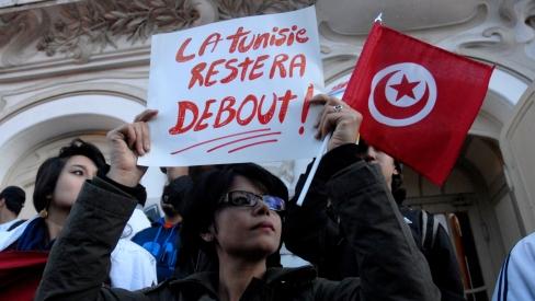 Manifestation après l'attentat du Bardo