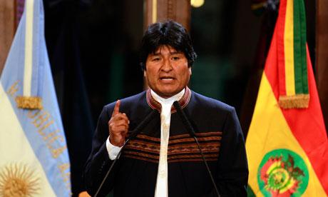 Evo Morales, le président bolivien