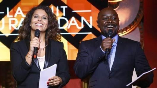 Les deux présentateurs de l'émission 2015, Myriam Seurat et Phil   Darwin