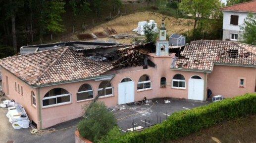 Les dégâts causés par l'incendie sur la mosquée de Auch