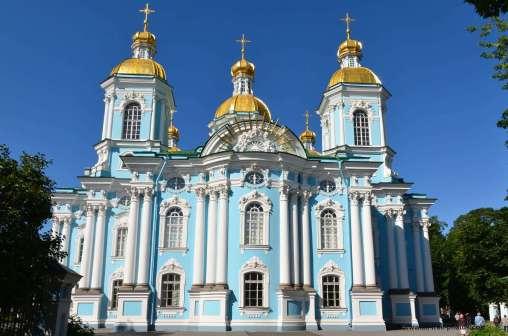 La Cathédrale Saint-Nicolas des Marins à Saint Pétersbourg