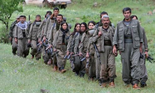Des combattants du PKK