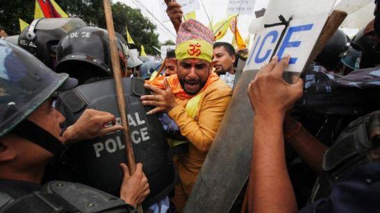 Protestations des hindous au Népal en août dernier