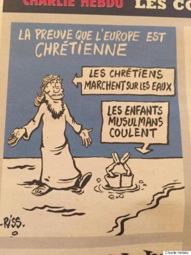 Dessin de Charlie Hebdo sur la mort du jeune Aylan Kurdi